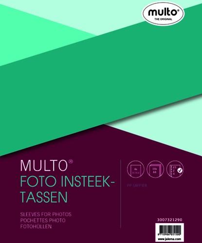 Fototas Multo A4 23-gaats 4-vaks 10X15cm PP transparant