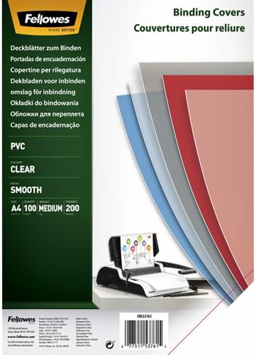 Voorblad Fellowes A4 PVC 200micron 100stuks