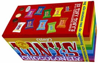 Chocolade Tiny Tony's Chocolonely 22 stuks mix