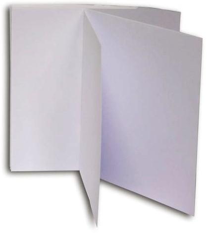 Dubbele kaarten Papyrus 130x130mm wit