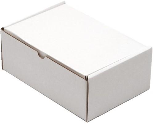 Postpakket CleverPack golfkarton 220x160x90mm wit 5stuks