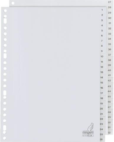 Tabbladen Kangaro 23-gaats G452CM 1-52 genummerd grijs PP