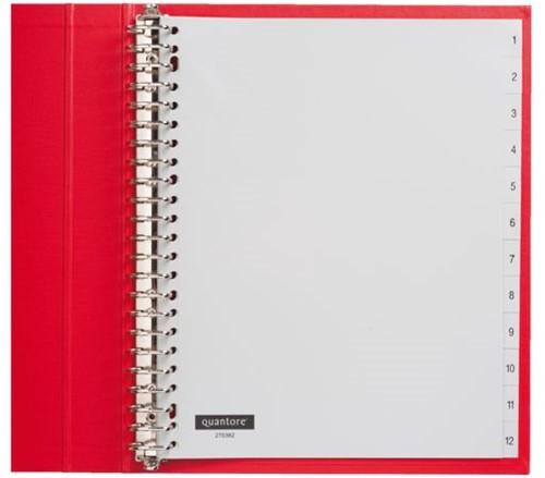 Tabbladen Quantore 23-gaats 1-12 genummerd extra breed PP