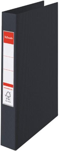 Ringband Esselte Vivida A4 4-rings O-mech 25mm PP zwart