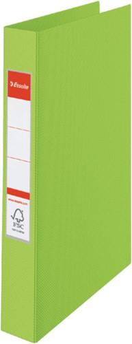 Ringband Esselte Vivida A4 4-rings O-mech 25mm PP groen