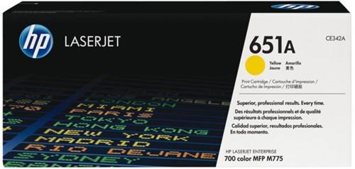 Tonercartridge HP CE342A 651A geel
