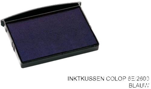 Stempelkussen Colop 6E/2600 blauw
