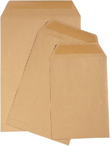 Envelop Quantore loonzak 114x162 70gr bruin 1000stuks