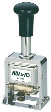 Numeroteur kw-trio 206 met 6 cijfers