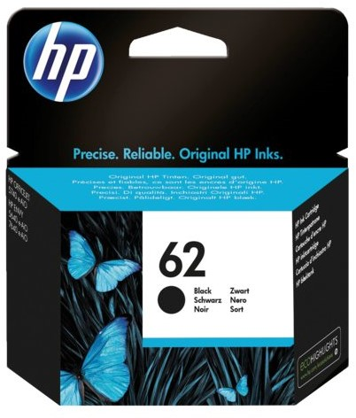 Inktcartridge HP C2P04AE 62 zwart
