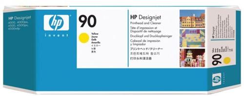 Printkop HP C5057A 90 + reiniger geel