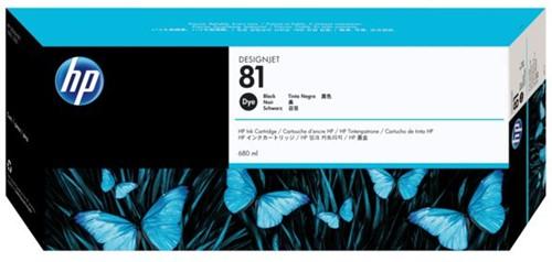 Inkcartridge HP 81 C4930A zwart