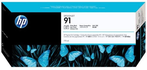 Inkcartridge HP C9465A 91 foto zwart