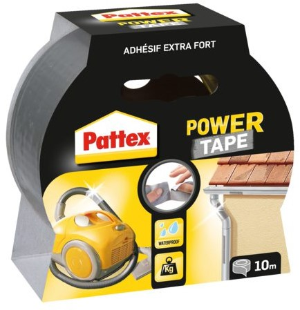 Plakband Pattex Power Tape 50mmx10m grijs
