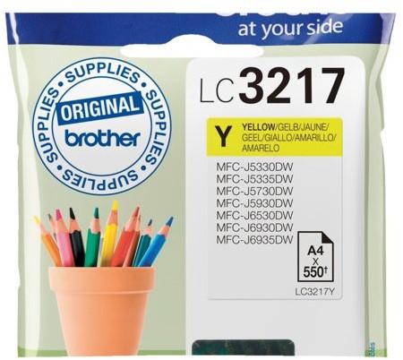 Inktcartridge Brother LC-3217Y geel