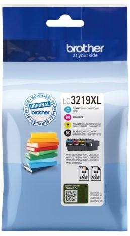 Inktcartridge Brother LC-3219XL zwart + 3 kleuren HC