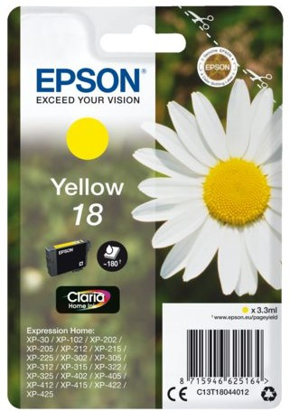 Inktcartridge Epson 18 T1804 geel