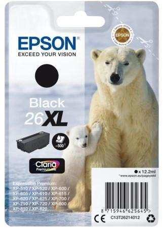 Inktcartridge Epson 26XL T2621 zwart HC
