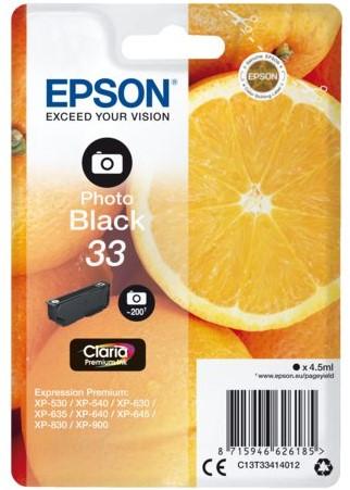 Inktcartridge Epson 33 T3341 foto zwart