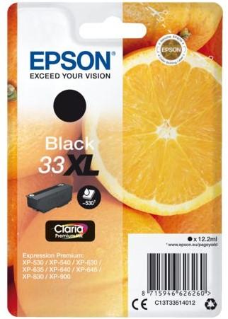 Inktcartridge Epson 33XL T3351 zwart HC