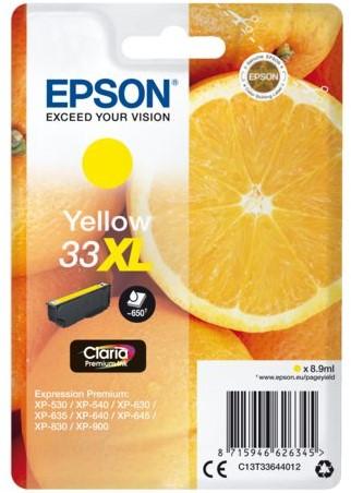 Inktcartridge Epson 33XL T3364 geel HC