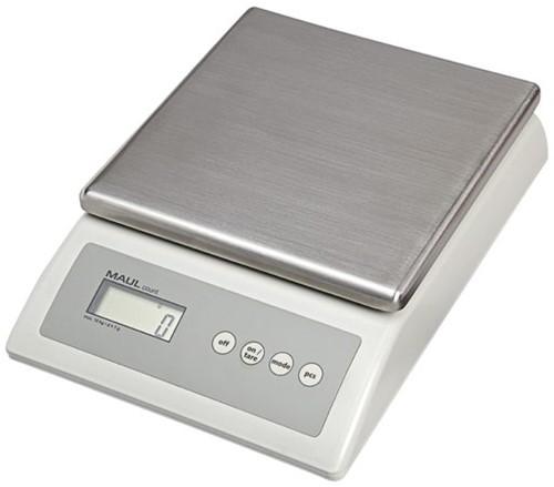 Pakketweger MAUL Count 10kg metalen plateau 17x17.5cm 220V/+ batterij