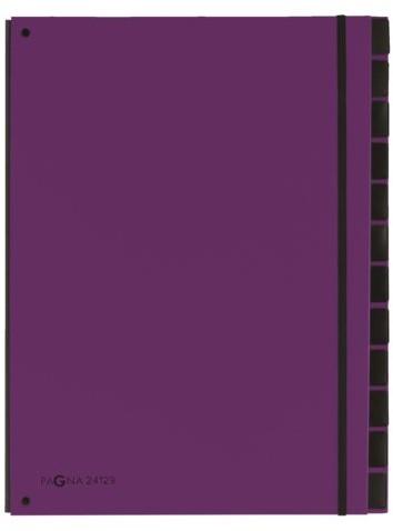 Sorteermap Pagna Trend 12 tabs A4 lila