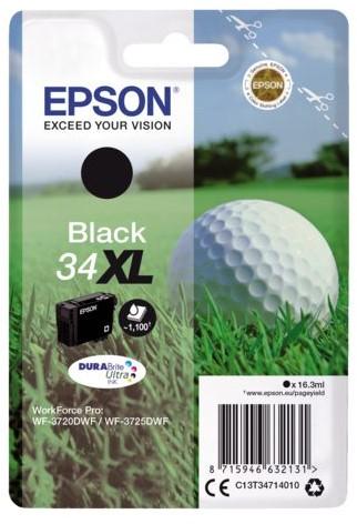 Inktcartridge Epson 34XL T3471 zwart HC