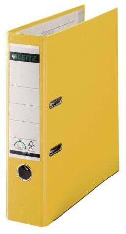 Ordner Leitz A4 80mm PP geel