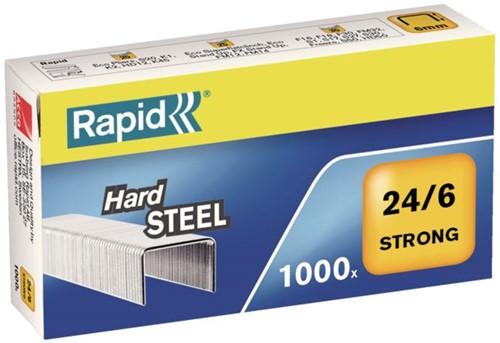 Nieten Rapid 24/6 staal strong 1000 stuks