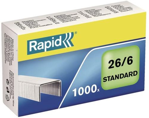 Nieten Rapid 26/6 gegalvaniseerd standaard 1000 stuks