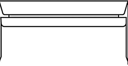 Envelop bank 114x229mm zelfklevend wit 500stuks