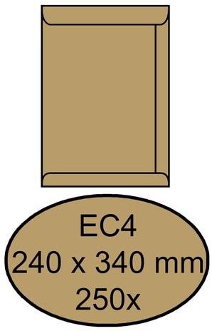 Envelop Quantore akte EC4 240x340mm bruinkraft 250stuks
