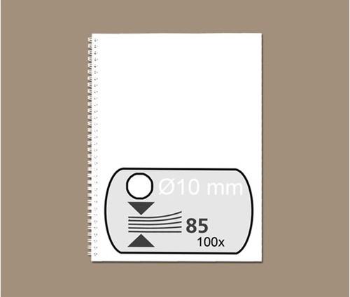 Draadrug Fellowes 10mm 34-rings A4 wit 100stuks
