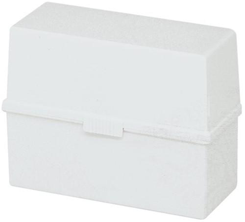 Kaartenbak Exacompta A5 kunststof grijs