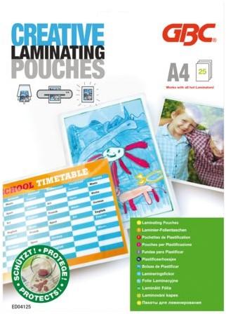 Lamineerhoes GBC A4 fotohoes 2x125micron 25stuks