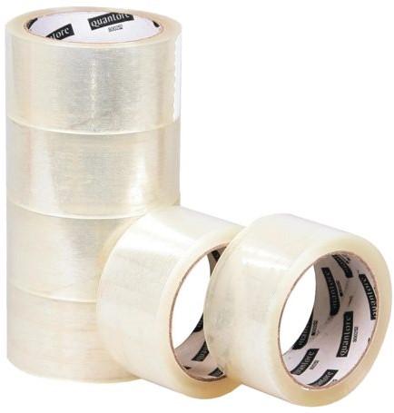 Verpakkingstape Quantore 50mmx60m PP transparant pak/6rol