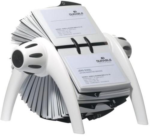 Visitekaartenmolen Durable Vegas 2417 voor 400st wit/zwart
