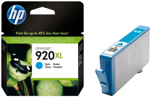Inktcartridge HP CD972AE 920XL blauw HC