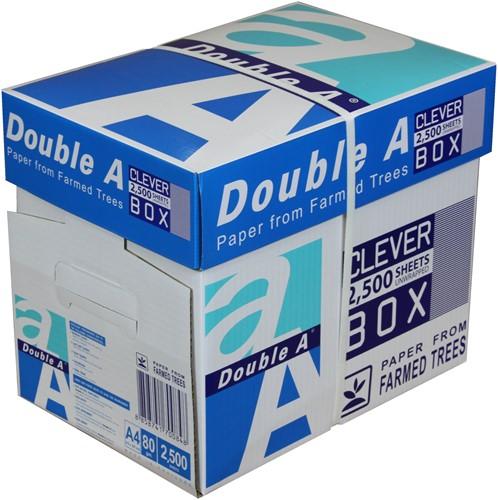 """Kopieerpapier Double A A4 80 g/m² """"premium"""" (cleverbox/2500vel)"""
