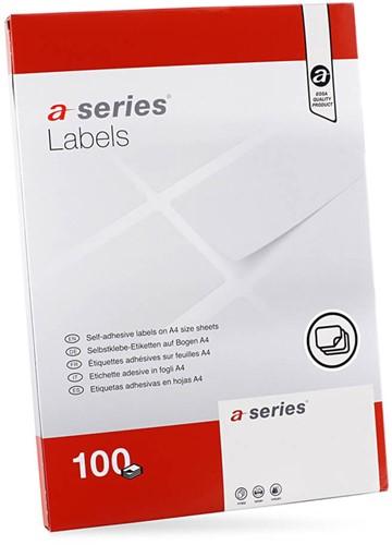 Etiket A-series, 210x297mm, wit